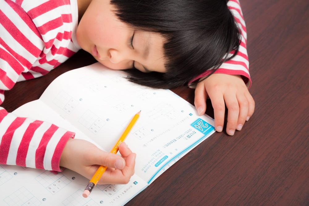 やる気がなくて勉強中に爆睡。