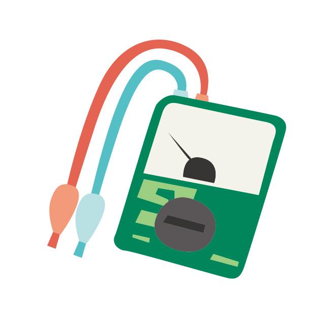 回路計や絶縁抵抗計のイメージ。