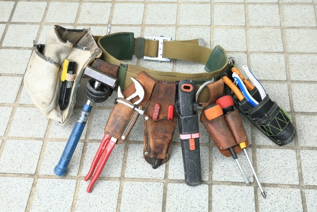 電気工事士の一般的な工事道具。