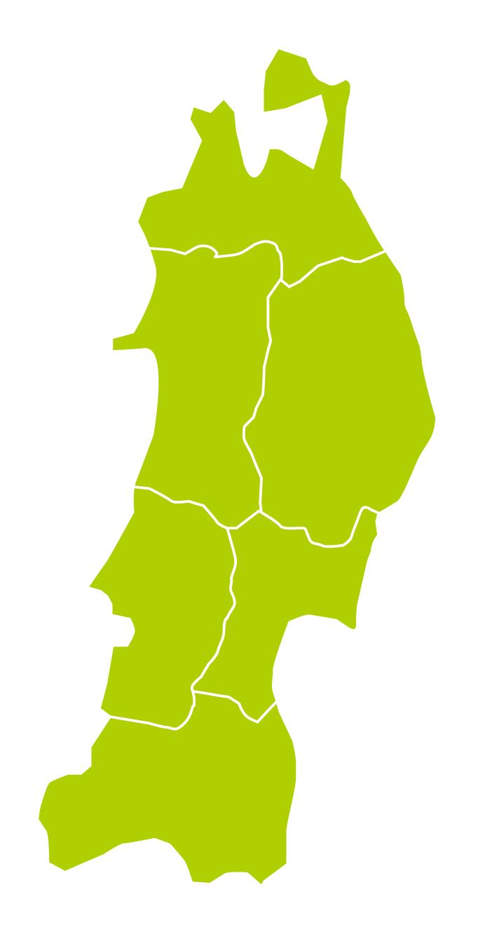 東北地方の地理的画像。